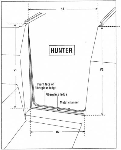 Hunter companionway doors measuring chart
